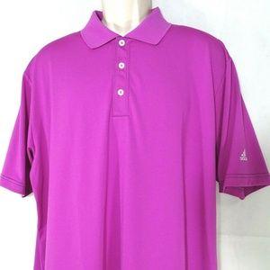 Adidas Golf Polo Shirt Men Size L Purple Short Slv